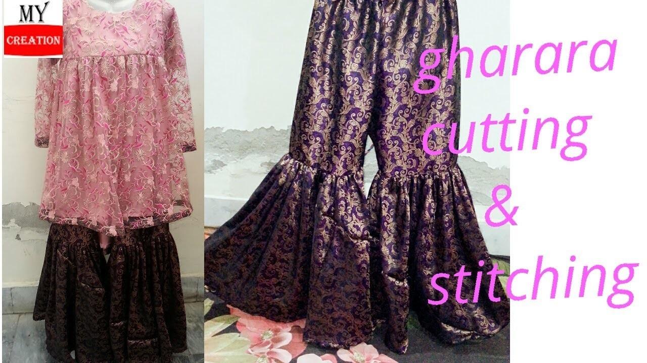 Uraib gharara cutting and stitching tutorial diy classical gharara