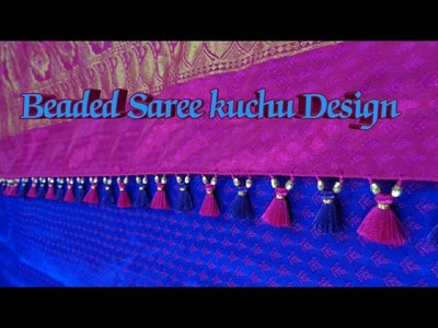 Beaded Saree kuchu design # 4. How to make saree kuchu