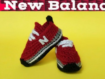 Crochet Baby Sneakers Tutorial (2018) Crochet Tennis Shoes