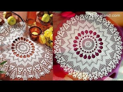 CROCHET Doily Tutorial How to crochet Part 7