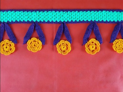 DIY Door Hanging Toran from Woolen Flowers Toran || DIY - How to Make Door Hanging Tooran Very Easy