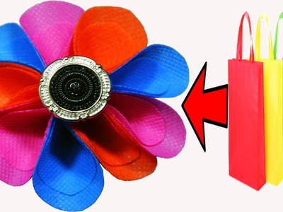 DIY Hair Accessories || How to Make a Hair band out of Shopping Bag || DIY Hair Scrunchie