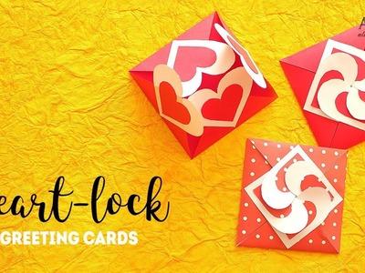 DIY Heart Lock Cards | Heart Greeting Card | Handmade Cards