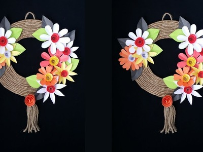 DIY: How to Make Beautiful Wall Hanging With Colour Paper & Twine.Jute!!!