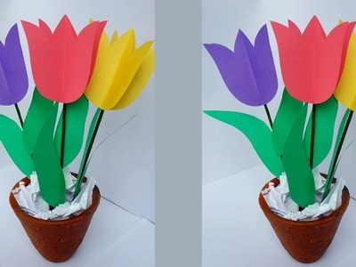 DIY: How to Make Easy & Beautiful Tulip Flower Bouquet!!!