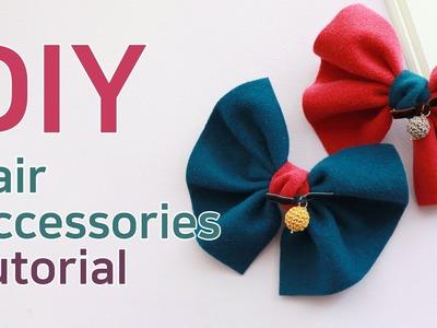 리본공예 DIY.How To Make Hair Accessories.handmade hair accessories.HairBow Tutorial.헤어핀 만들기.리본공예