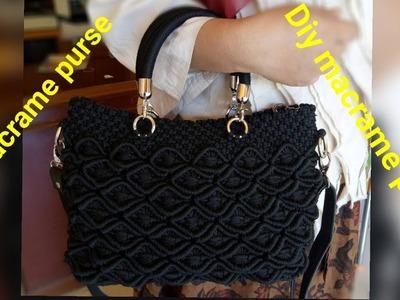 Diy how to make macrame purse # design 22