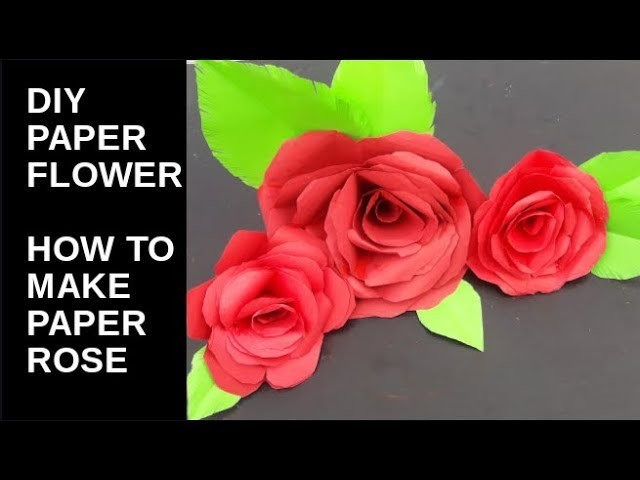 Diy paper flowers how to make realistic paper rose easy diy paper flowers how to make realistic paper rose easy mightylinksfo