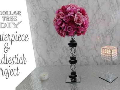 Dollar Tree DIY. Centerpiece & Gem Candleholder. Paris Theme DIY