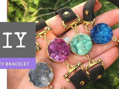 Druzy Stretchy Strap Bracelet DIY with The Bead Place