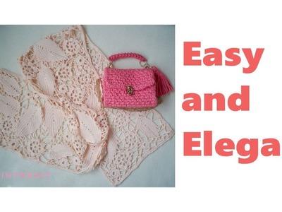 Easy Modern Irish Crochet Motif Shawl