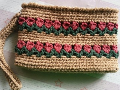 For Left-handed | How to Crochet the Tulip Purse ( rectangle)
