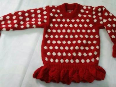 Girls jhabla.top knitting design