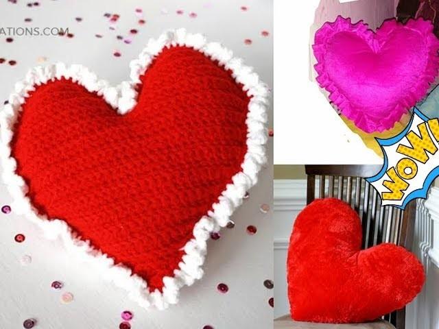 Heart Pillow making DIY printerest Tutorial.Valentine's Day gifts heart pillow