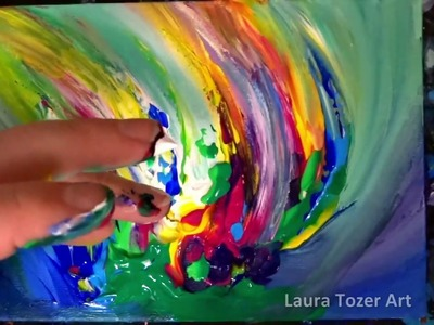 How to create an original colourful abstract painting with only your fingers