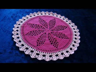 How to Crochet 26'' Flower Lace Doily Pattern #715│by ThePatternFamily