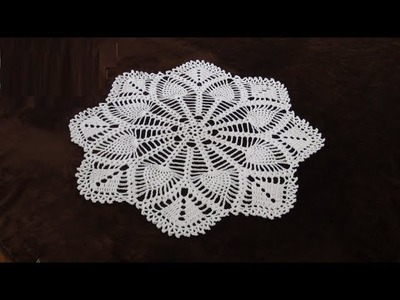 How to Crochet 30'' Lace Pineapple Doily Pattern #711│by ThePatternFamily