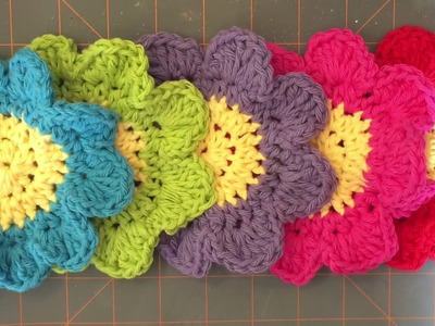 How To Crochet A Flower Coaster for beginners