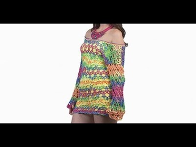 HOW TO CROCHET A MULTICOLOR SMOCK  -  EASY AND FAST - BY LAURA CEPEDA