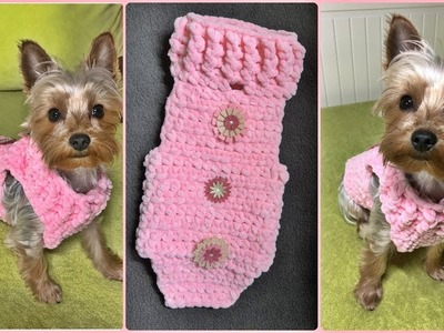 How to crochet a small dog sweater XS (2,2kg) - Step by step for beginners