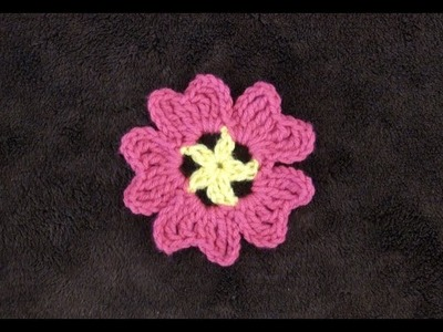 How to Crochet an Easy Flower Pattern #713│by ThePatternFamily