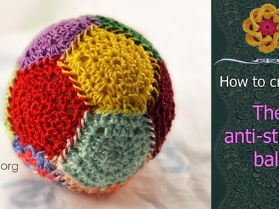 How To Crochet Anti-Stress Ball • Free Step by Step Crochet Tutorial • ellej.org