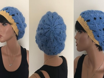 How to Crochet Slouch Beanie Hat Pattern #704│by ThePatternFamily