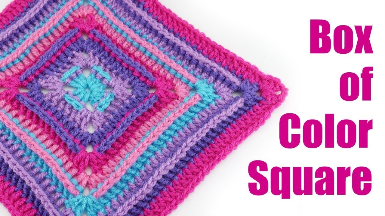 How To Crochet the Box of Color Square
