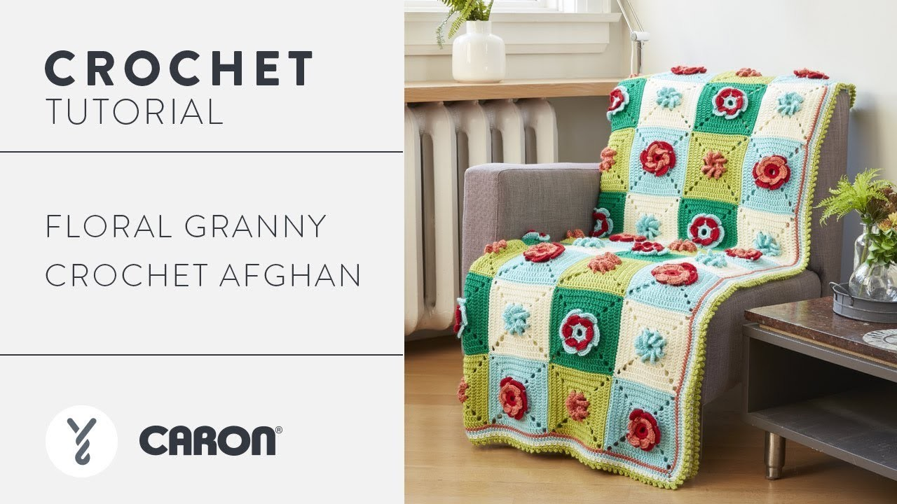 How to Crochet the Floral Granny Square Afghan