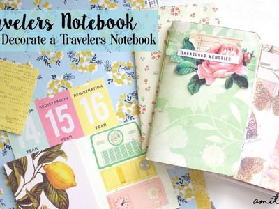 How To Decorate and Customize your TRAVELERS NOTEBOOK | Part 1 | Setup & Materials