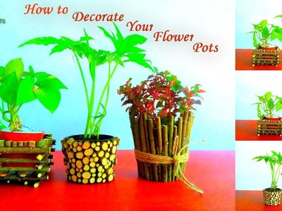 How to Decorate Your Small Flower Pots | Pots Decoration Ideas | Garden DIY Ideas.GREEN PLANTS