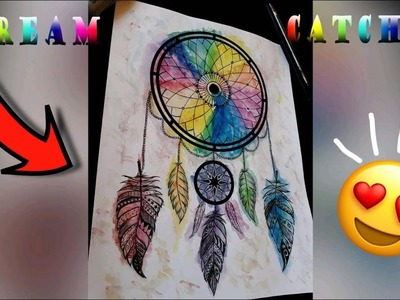 How to Draw a Dream Catcher Easy ????