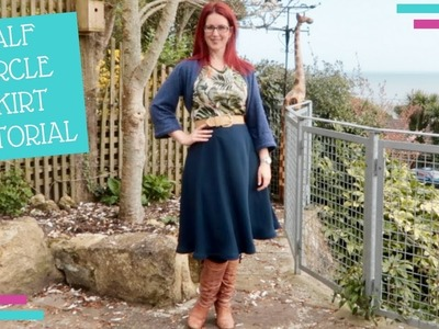 How To :: Half Circle Skirt Tutorial :: No Maths Required!