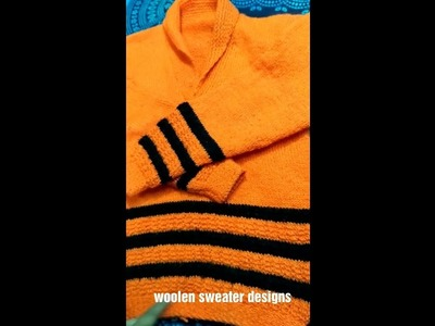 How to knit beautiful sweater for ladies or girls in hindi : two colour woolen sweater designs