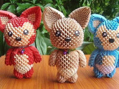 How To Make 3D Origami Fox | DIY Paper Fox Handmade Decoration