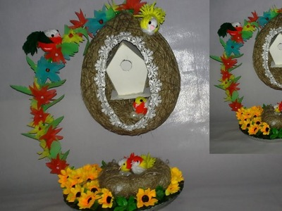 How to make a Bird Nest    Easy DIY Projects  bird nest making with jute  dustu pakhe 