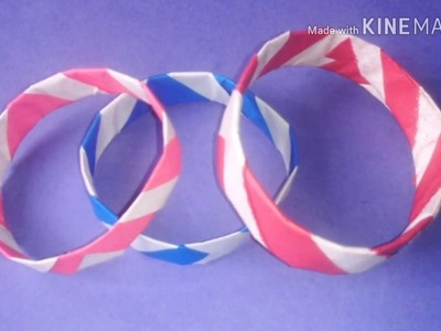 How to make a Bracelet? Easy and Simple paper Bracelet for Kids.