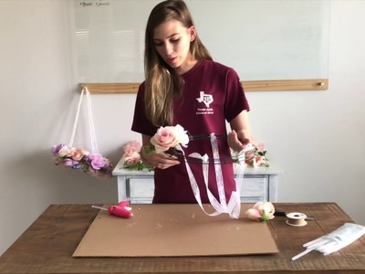 How to make a floral mobile