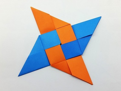 How to make a Paper Ninja Star (Shuriken) very easy - Origami Ninja Star