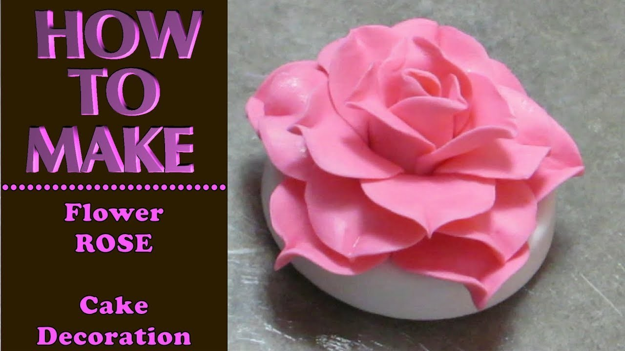 How to Make a ROSE Cake Topper & Decoration with Caketastic Cakes Instructions