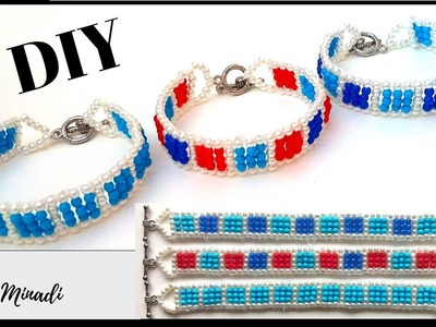 ✅How to make a simple bracelet design . DIY Bracelets with beads