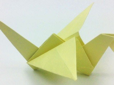 How to Make an Origami Crane Tutorial !!! How To Make an Origami Flapping Bird !!! Easy Paper Bird