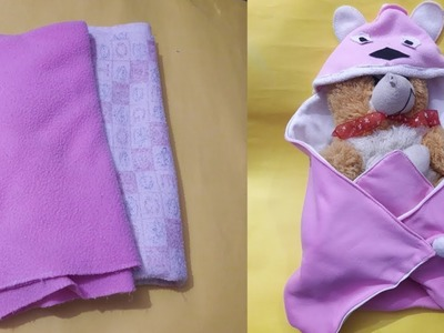 How to make BABY NEST a new born baby from old blanket | ful tutorial