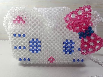 How to make beaded Hello kitty bag (3.4)