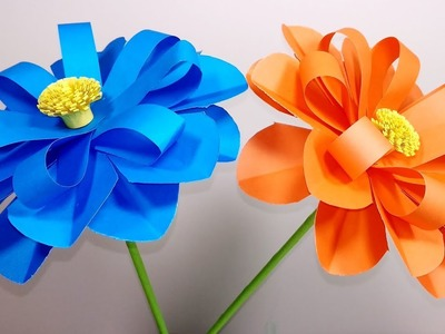 How to Make Beautiful Flower with Color Paper | DIY -  Jarine's Crafty Creation