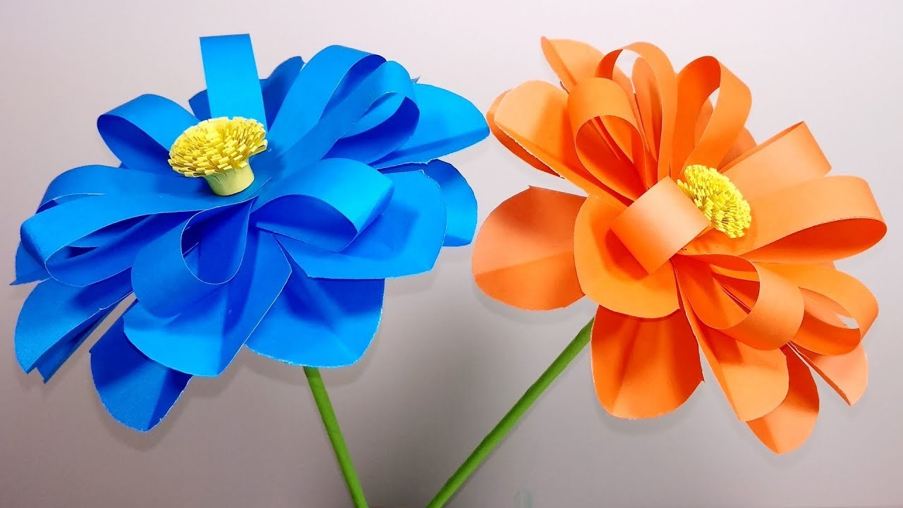 How to Make Beautiful Flower with Color Paper   DIY -  Jarine's Crafty Creation