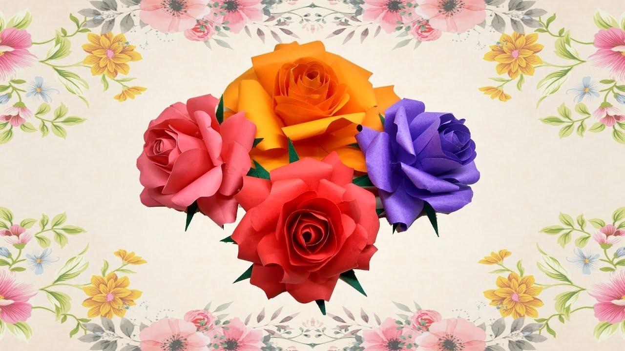 How To Make Bunch Of Rose Paper Flower Best Rose Flower Red Rose