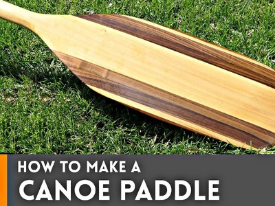 How to Make Canoe Paddle. Woodworking