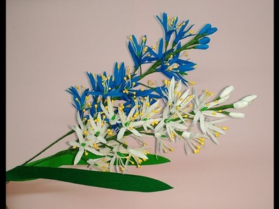 How to make Crepe paper Flowers Wild Hyacinth. Camassia (flower # 267)