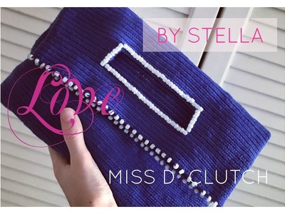 How to make Crochet Miss D bag | clutch . Easy Crochet Tutorial , crocheting pearls as well.